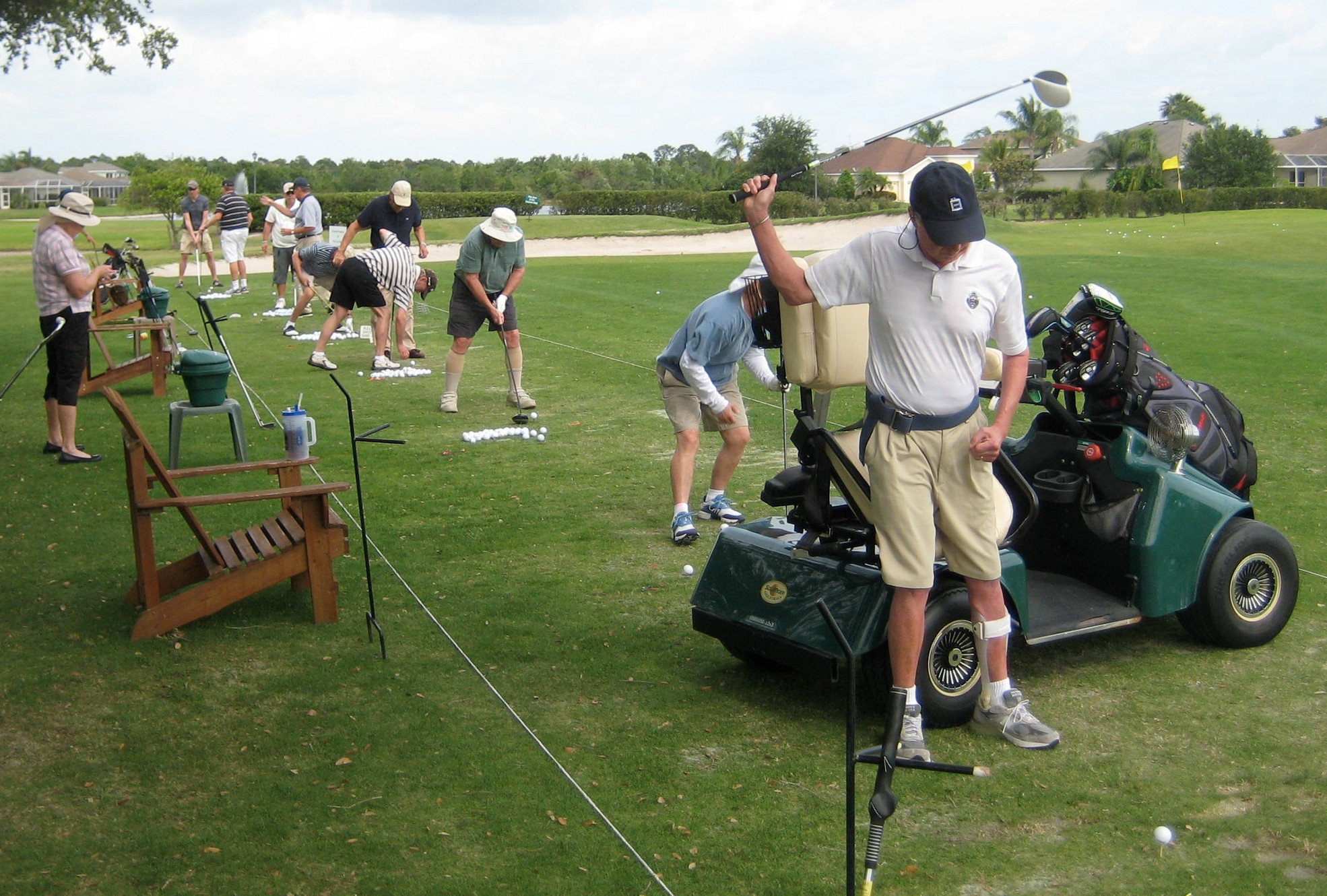 How do you approach teaching golfers with adaptive needs?